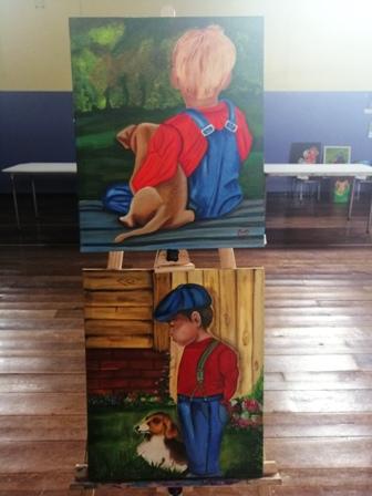 Con atractiva exposición finalizó taller de pintura en Colegio Santa Cruz de Villarrica - Red Informativa Villarrica