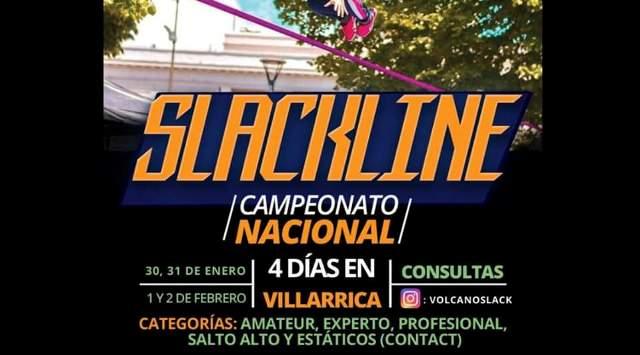 Campeonato Nacional de Slackline se vivirá en Villarrica - Red Informativa Villarrica