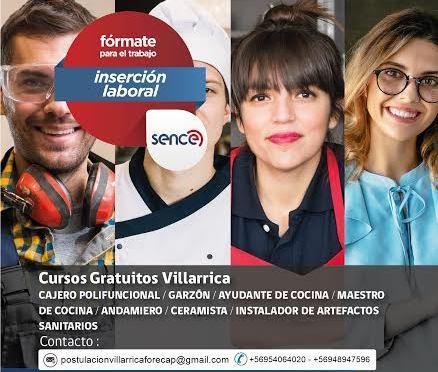 Este miércoles inscripciones para  7 cursos  gratuitos en Villarrica - Red Informativa Villarrica